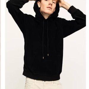 Corduroy Sweatshirt Pullover Black Cords Unisex
